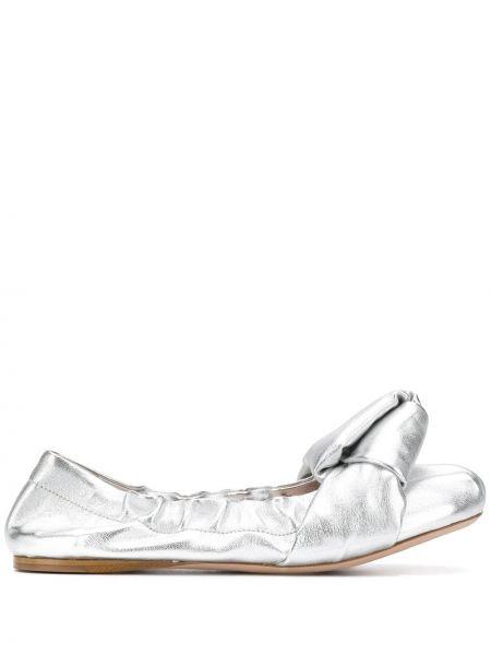 Sandały skórzany srebro Miu Miu