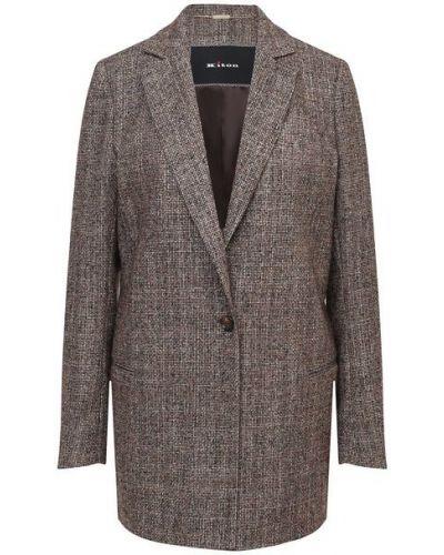 Коричневый свободные прямой пиджак с подкладкой Kiton