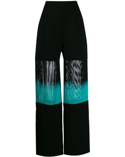 Черные свободные брюки с карманами свободного кроя George Keburia