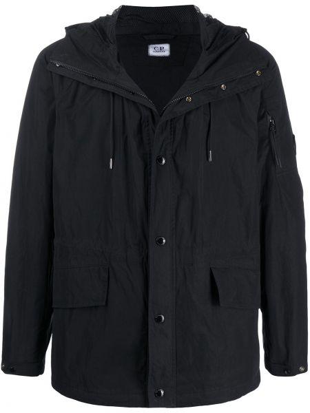 Куртка с капюшоном черная спортивная Cp Company Kids