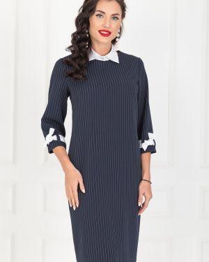 Платье в полоску - синее Taiga