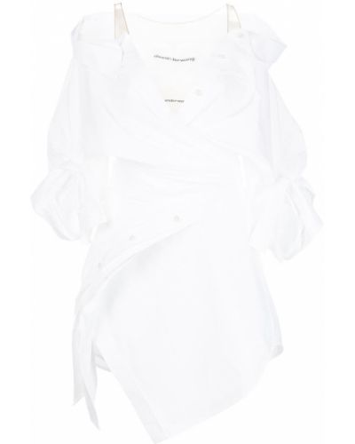 Платье рубашка - белое Alexander Wang