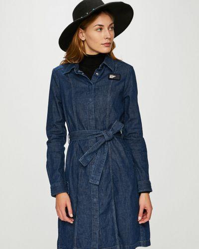 Темно-синее платье мини с карманами G-star Raw