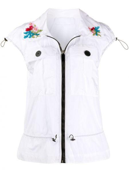 Жилетка белый с карманами No Ka 'oi