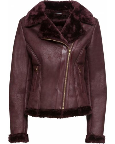 Кожаная куртка с карманами утепленная Bonprix