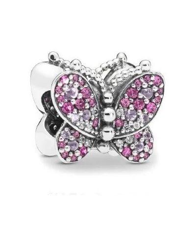 Серебряный браслет с камнями металлический Pandora
