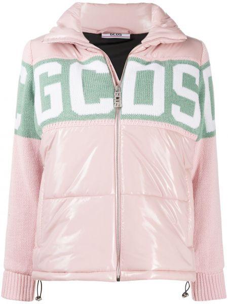 Шерстяная розовая куртка на молнии Gcds