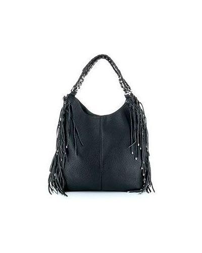 Кожаный сумка сумка-хобо с бахромой Roberto Cavalli