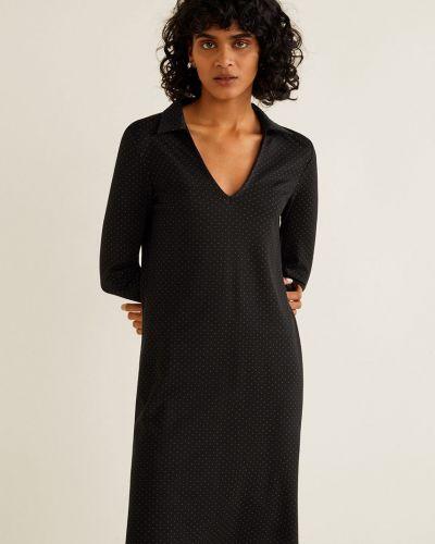 Платье мини с V-образным вырезом прямое Mango