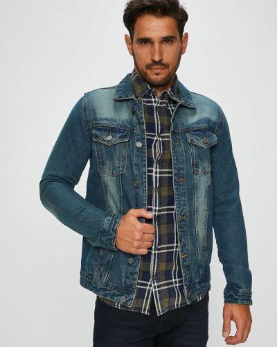 Джинсовая куртка укороченная на пуговицах Brave Soul