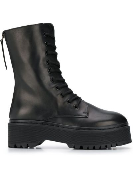 Кожаные черные ботинки на платформе P.a.r.o.s.h.