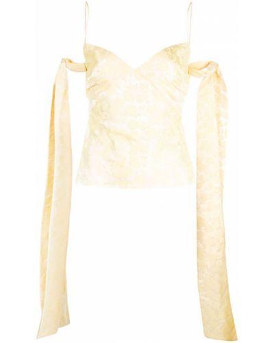 Желтая блузка с вышивкой Markarian
