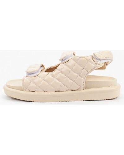Бежевые кожаные сандалии Sweet Shoes