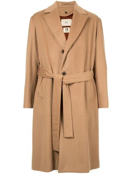 Кашемировое стеганое длинное пальто на пуговицах свободного кроя Loveless