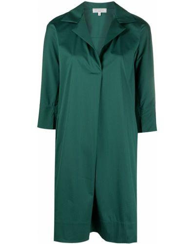 Хлопковое зеленое платье трапеция Antonelli