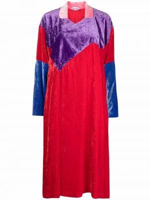 Платье макси с длинными рукавами - красное Comme Des Garçons Comme Des Garçons