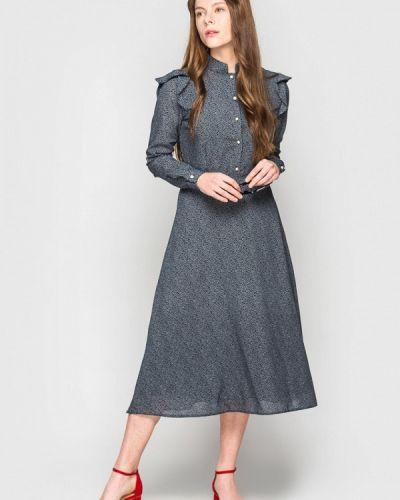 Прямое серое платье А-силуэта Evercode