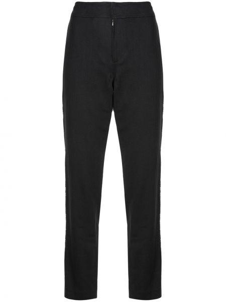 Черные брюки с вышивкой Josie Natori