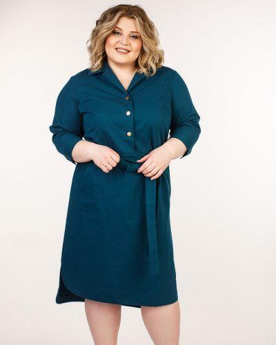 Деловое платье на пуговицах с поясом Jetti-plus