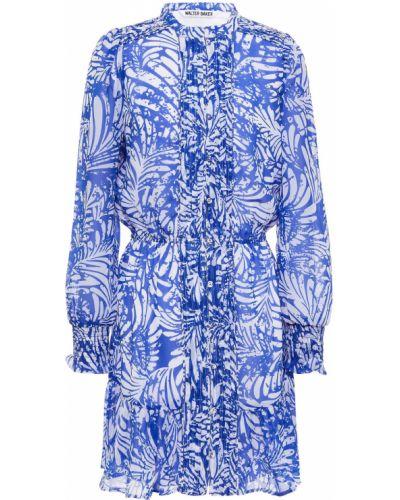 Niebieska sukienka mini Walter Baker