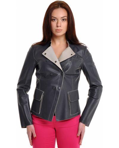 Кожаная куртка - серая Armani Collezioni