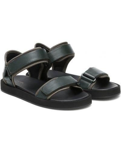 Зеленые кожаные сандалии The Row