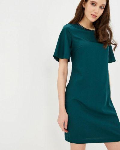 Платье осеннее зеленый Zarina
