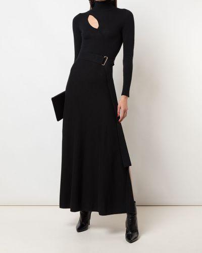 С рукавами черное платье с рукавами Nicholas