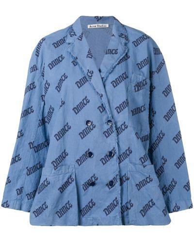 Синий удлиненный пиджак Acne Studios
