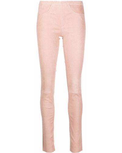 Кожаные леггинсы - розовые Giorgio Brato