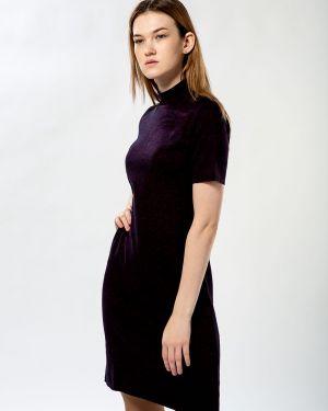 Хлопковое темно-синее платье Samo