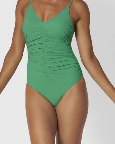 Зеленый слитный купальник Triumph