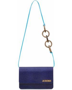 Skórzana torebka na łańcuszku wytłoczony Jacquemus