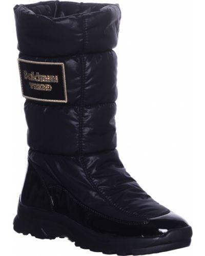 Кожаные сапоги - черные Baldinini