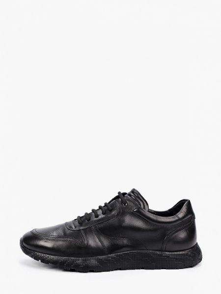 Кожаные черные кроссовки Marco Lippi