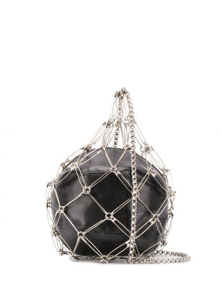 С ремешком черная сумка на цепочке металлическая на молнии Comme Des Garçons Noir Kei Ninomiya