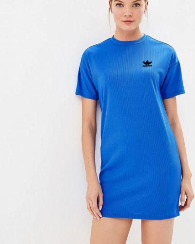 Синее платье Adidas Originals
