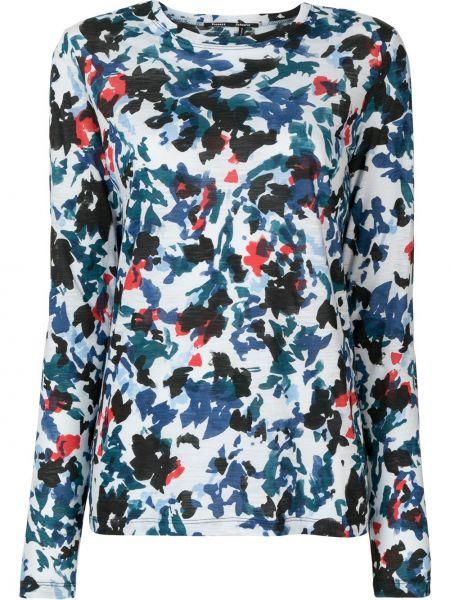 Ватная хлопковая синяя рубашка Proenza Schouler
