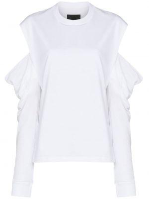 Biały top z długimi rękawami bawełniany Rta