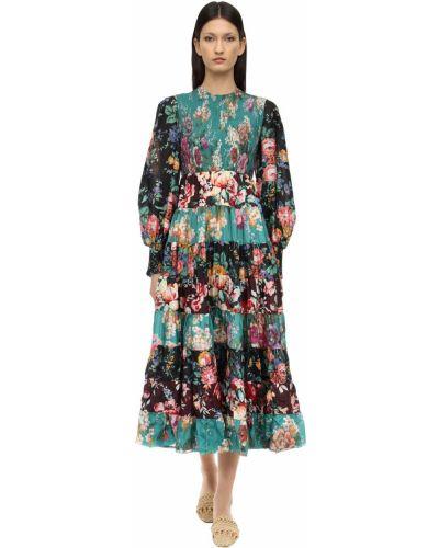 Платье пэчворк со складками Zimmermann