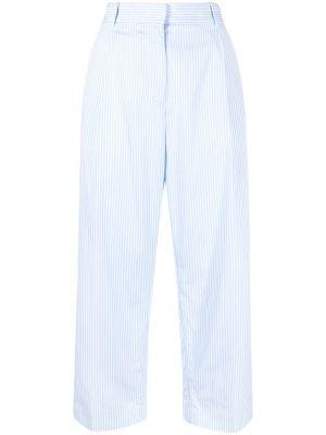 Свободные брюки в полоску с поясом Fabiana Filippi
