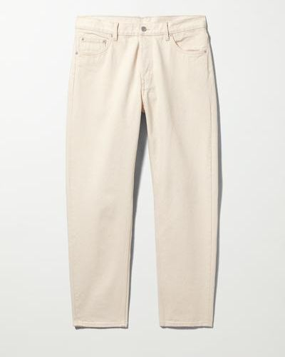 Бежевые джинсы с карманами Weekday
