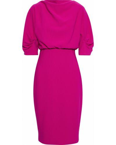 Розовое платье на крючках с подкладкой Badgley Mischka