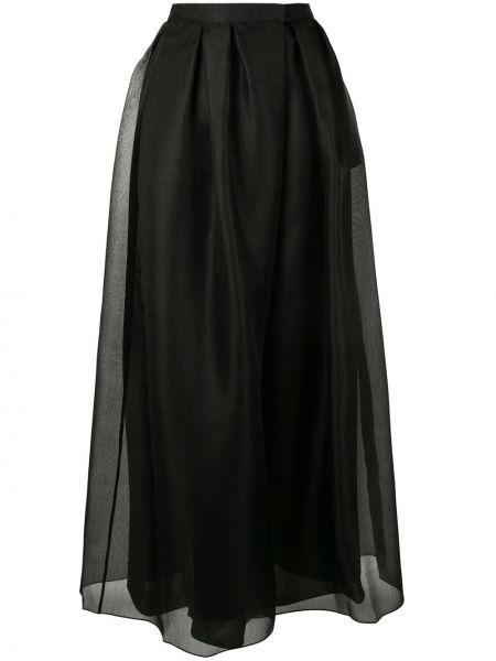 Spódnica maxi plisowana z wysokim stanem Giorgio Armani