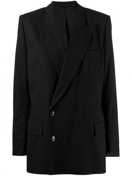 Черный пиджак с манжетами A.f.vandevorst
