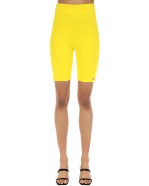 Желтые трикотажные с завышенной талией шорты Aalto