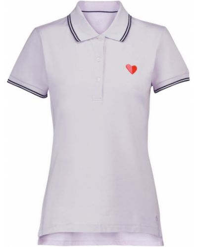 Ватная фиолетовая хлопковая рубашка Tory Sport