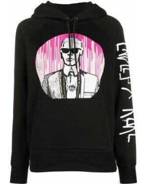 Bluza z kapturem z kapturem z łatami Karl Lagerfeld
