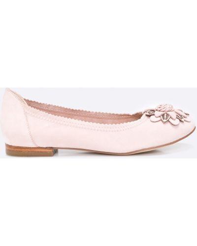 Розовые брюки льняные Caprice