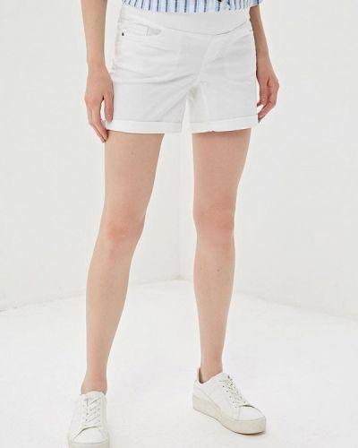 Белые джинсовые шорты для беременных со стразами Dorothy Perkins Maternity